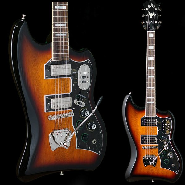 Guild Guild S-200 T-Bird w/ Deluxe Padded Bag Antique Burst