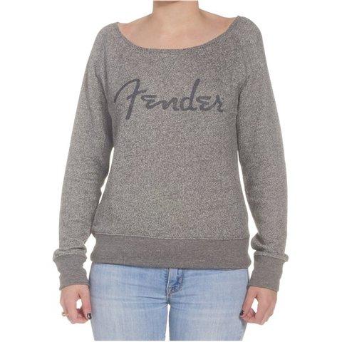 Fender Ladies Long Sleeve Crop Pullover, Gray, S
