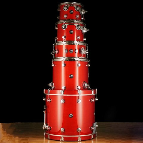 DW Drum Workshop Performance Series 5 pc shell pack Candy Apple Laquer 8 x 10, 9 x 12, 14 x 16, 6.5 x 14, 18 x 22