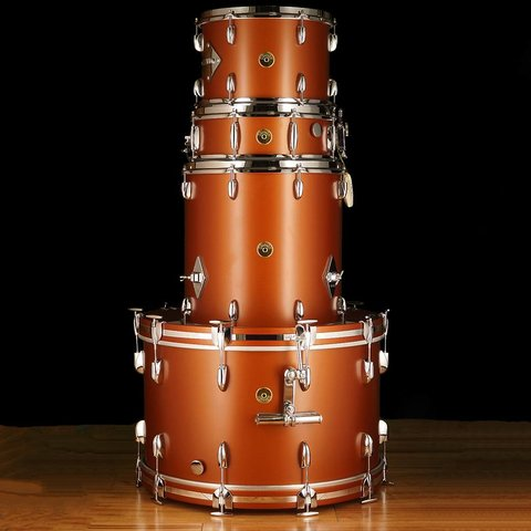 "Gretsch Broadkaster Series 13"" 16"" 24"" 5x14"" Vintage Build SCP Satin Copper"