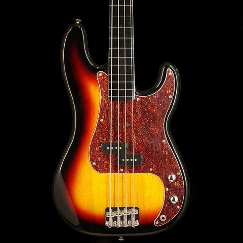 Vintage Modified Precision Bass Fretless, Ebonol Fingerboard, 3-Color Sunburst