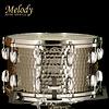 """Gretsch 8"""" X 14"""" Hammered Black Steel Snare Drum"""