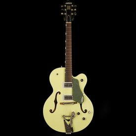 Gretsch Guitars Gretsch G6118T-SGR Players Edition Anniversary with String-Thru Bigsby, Filter'Tron Pickups, 2-Tone Smoke Green