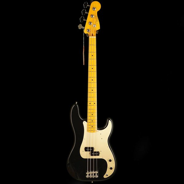 Fender 50s Precision Bass Lacquer, Maple Fingerboard, Black w/ Tweed Hard Case