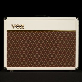 "Vox Vox AC15C1WB Limited Edition 15W 1 x 12"" Guitar Combo Amplifier, White Bronco"