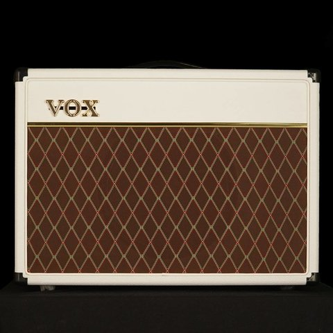 """Vox AC15C1WB Limited Edition 15W 1 x 12"""" Guitar Combo Amplifier, White Bronco"""