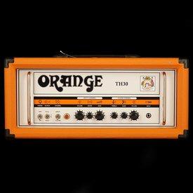 Orange Orange TH Series TH30H Black 30/15/7 W Class A Tube Head, 2-ch w/ tube effects loop, EL84 powered
