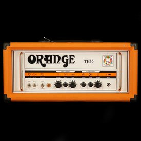 Orange Orange TH Series TH30H Black 30/15/7 watt Class A Tube Head, 2-channel w/ tube effects loop, EL84 powered