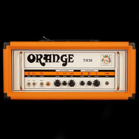 Orange TH Series TH30H Black 30/15/7 watt Class A Tube Head, 2-channel w/ tube effects loop, EL84 powered