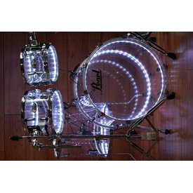 Pearl Pearl Crystal Beat 4-pc Shell Pack #730 Clear w Dual LED Banded Light Kit
