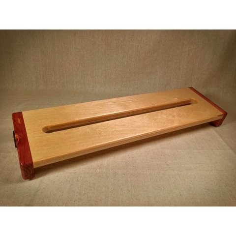 KY Hot Brown Pedalboards Hot Box Standard Cedar Reverse