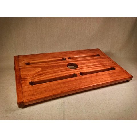 KY Hot Brown Pedalboards Rough Rider XL American Walnut