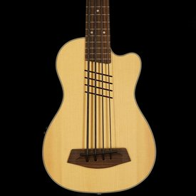 Kala Kala Solid Top Acoustic/Electric UBASS-SSMHG-C-HH-FS U-Bass Cutaway Fretted w/ Bag, Satin/Solid Spruce Top/Mahogany