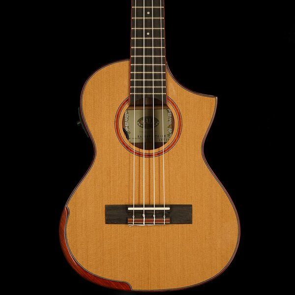 Kala Kala Special Edition KA-SRT-CTG-CE Comfort Edge Tenor Florentine Cutaway W/Eq Ukulele, Gloss/Solid Cedar/Solid Rosewood