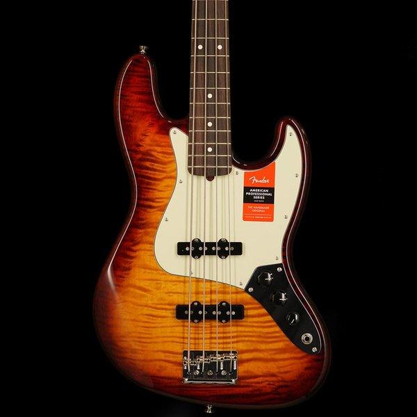 Fender 2017 Fender Limited Edition American Professional Jazz Bass FMT Aged Cherry Burst