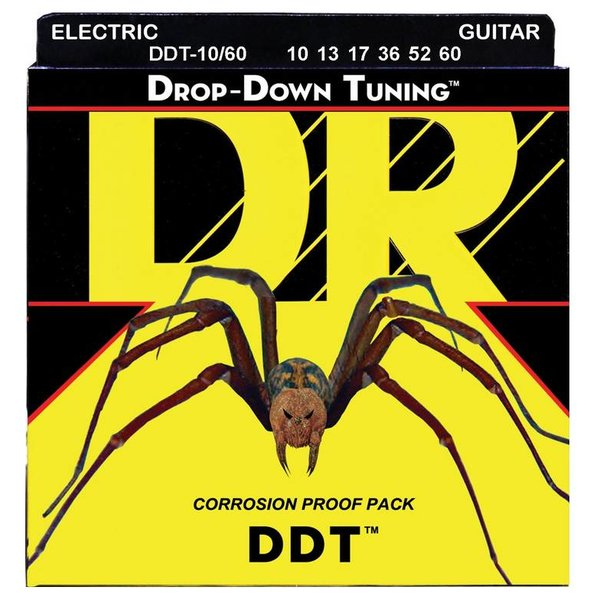 DR Handmade Strings DR DDT-10/60 Drop Down Tuning Electric Guitar Strings,10-60