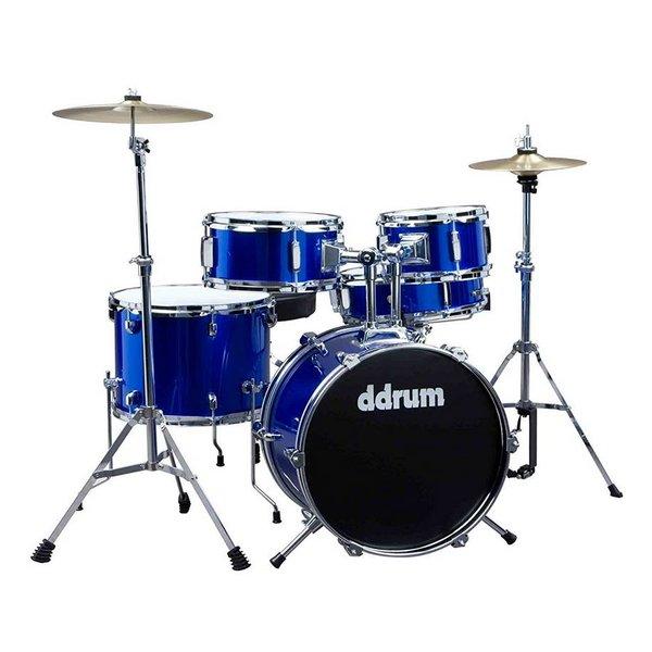 D Drums DDrum D1PB Jr. 5-Piece Drum Set, Blue