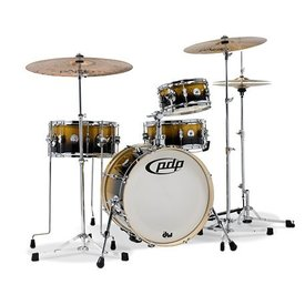 Pacific Drums Pacific Daru Jones New Yorker 4-Pc Signature Kit w/ Hardware & Cases Gold Black Sparkle Lacq