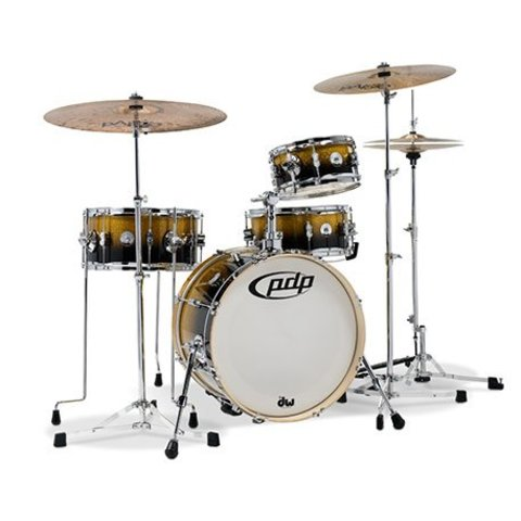 Pacific Daru Jones New Yorker 4-Pc Signature Kit w/ Hardware & Cases Gold Black Sparkle Lacq