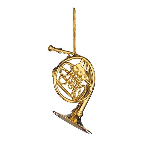 Music Treasures Co. French Horn Ornament Gold 4.0'  'H
