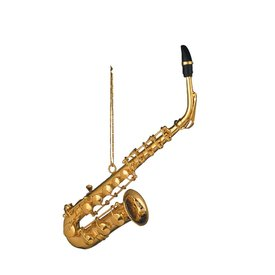 "Music Treasures Co. Gold Alto Saxophone 4.5""H"
