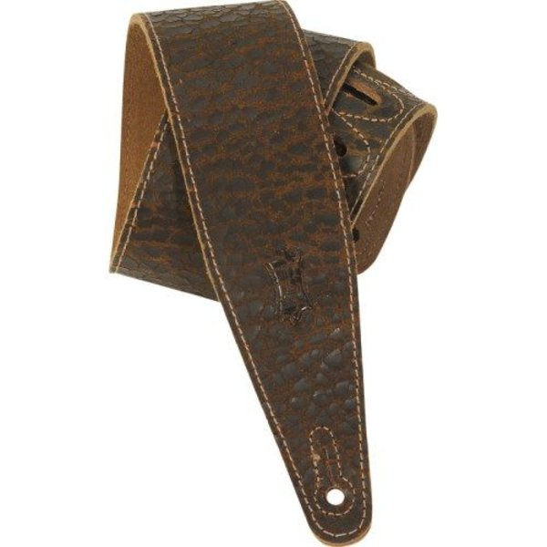 "Levy's Leathers Levy's MD317JAD-DBR 2.5"" Cracked Leather Guitar Strap"