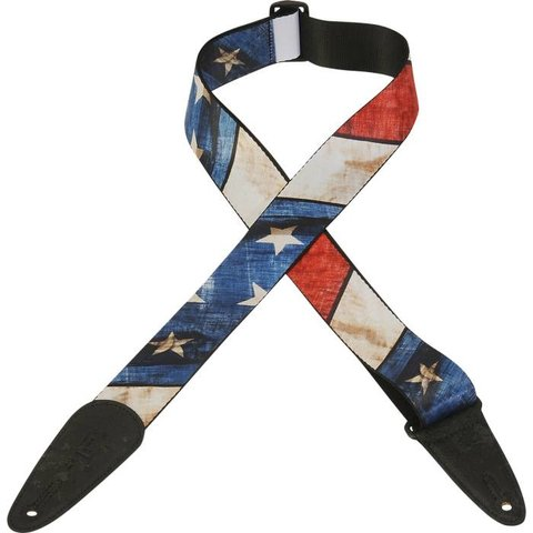 """Levy's MDP-US 2"""" Polyester Sublimation Printed Guitar Strap"""