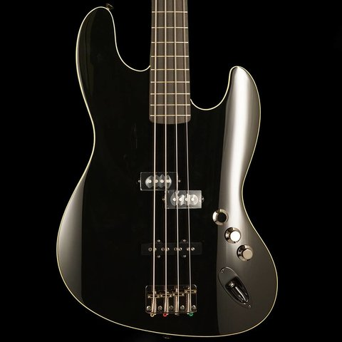 Aerodyne Jazz Bass, Rosewood Stained Fingerboard, Black, No Pickguard