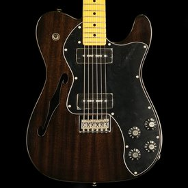Fender Modern Player Telecaster Thinline Deluxe, Maple Fingerboard, Black Transparent