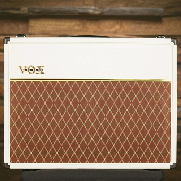 "Vox Vox AC30C2WB Limited Edition 30W 2 x 12"" Guitar Combo Amplifier, White Bronco"