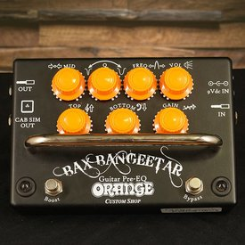 Orange Orange BAX BANGEETAR BLK Guitar Preamp stompbox parametric cab-sim boost