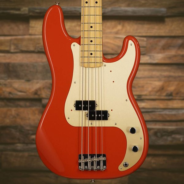Fender Fender '50s Precision P Bass Fiesta Red with Maple Fingerboard Gold Pickguard