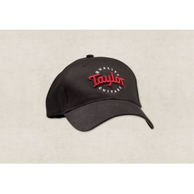 Taylor Taylor Pro Style Cap - Black with Red & White Logo