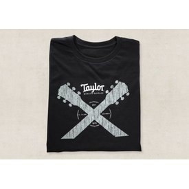 Taylor Taylor Taylor Double Neck T, Black- L Short Sleeve T