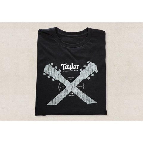 Taylor Taylor Double Neck T, Black- L Short Sleeve T