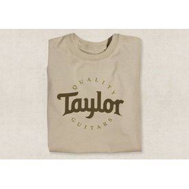 Taylor Taylor Two-Color Logo T, Sand- L Short Sleeve T