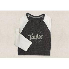 Taylor Taylor Ladies Baseball T, Black/Natural- L