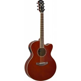 Yamaha Yamaha CPX600 RTB Full body, spruce top, nato back and sides, die-cast tuners, System 65 piezo and preamp; Root Beer