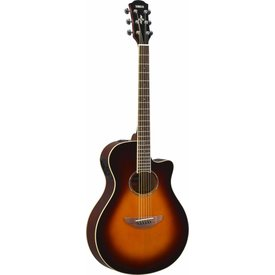 Yamaha Yamaha APX600 OVS Thinline body, spruce top, nato back and sides, die-cast tuners, System 65 piezo and preamp; Old Violin Sunburst