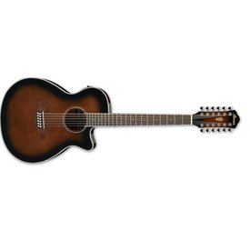 Ibanez Ibanez AEG1812IINT AEG Acoustic Electric 12String Guitar - Dark Violin Sunburst