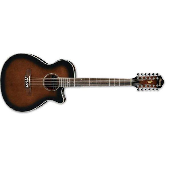 Ibanez Ibanez AEG1812IINT AEG Acoustic Electric 12String Guitar - Dark Violin Sunburst