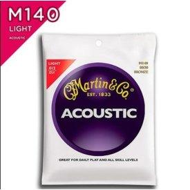 Martin Martin, Light, M140 Bronze 80/20 Acoustic Guitar Strings, 12-54
