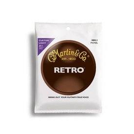Martin Martin Strings,Retro,6 Str,Custom Light, Monel Wd