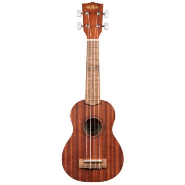Kala Kala Mahogany Series KA-15S-S Soprano Ukulele, No Binding, Satin/Spruce/Mahogany