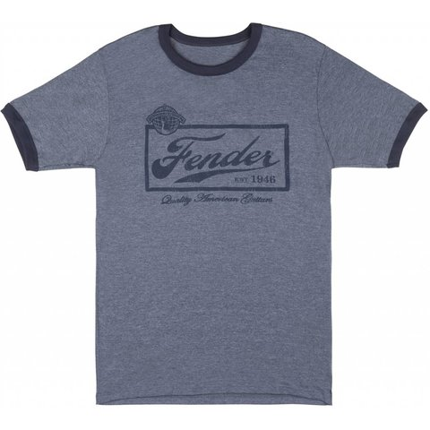Fender Beer Label T-Shirt, Blue, XXL