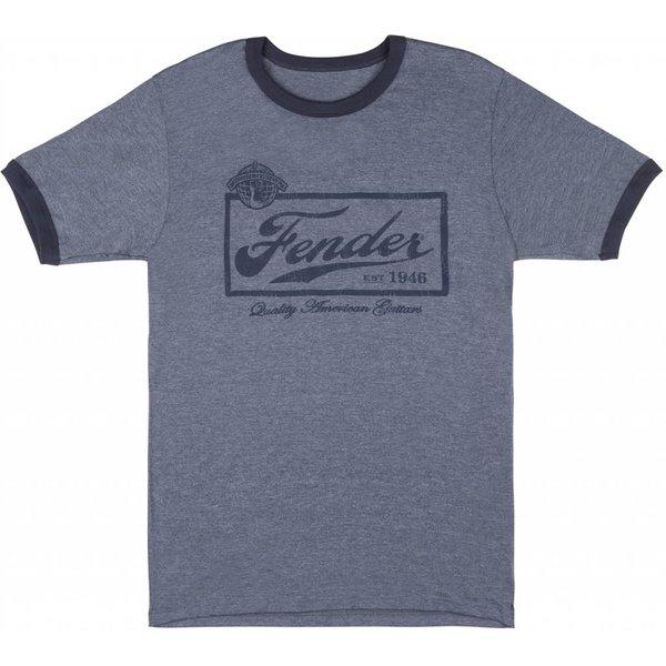 Fender Fender Beer Label T-Shirt, Blue, S