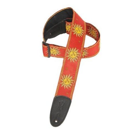 Levy's MPJG-SUN-RED 2'' Polypropylene Strap w/ Jacquard Red