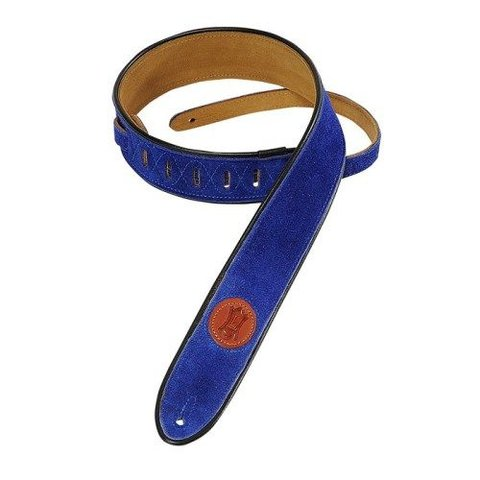 "Levy's MSS3-2-ROY 2"" Signature Series Suede Royal Blue"