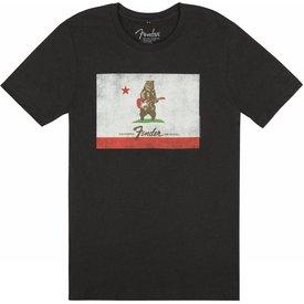 Fender Fender Bear Flag T-Shirt, Black, L