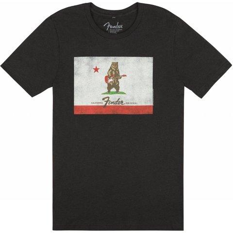 Fender Bear Flag T-Shirt, Black, S